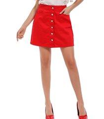 mini falda botones rojo nicopoly