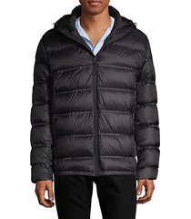 seamless hooded puffer jacket