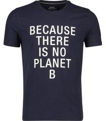 donkerblauw t-shirt ecoalf natal classic because