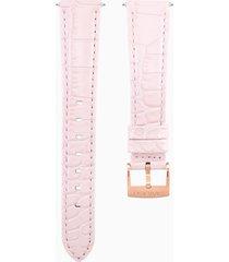 cinturino per orologio 17mm, rosa, placcato color oro rosa
