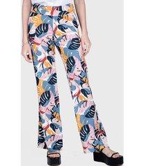 pantalón ash palazzo fantasía multicolor - calce holgado