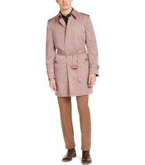tallia men's slim-fit viaggo trench coat