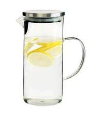 jarra de vidro tampa para agua ou suco 1,3 litros - lojas carisma