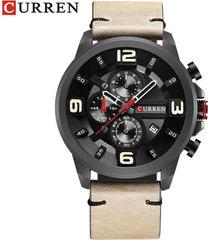 reloj curren modelo kreb600123 beige hombre