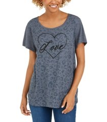 style & co love graphic t-shirt, created for macy's