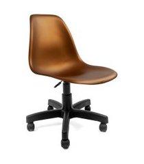 cadeira de escritório secretária eames preta e bronze