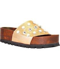sandalia de cuero cobre albany