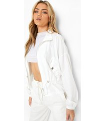 lichte jas met zakdetail, white