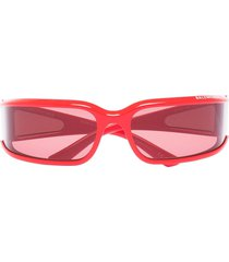balenciaga eyewear extreme shield-frame sunglasses - red