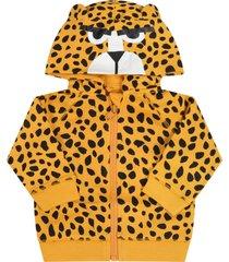stella mccartney kids orange sweatshirt for babykids with cheetah