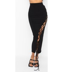 akira right my wrongs maxi skirt with lace ups