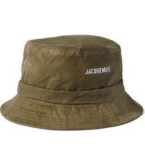 le bob gadjo logo-appliquéd cotton-canvas bucket hat