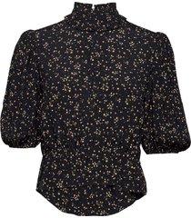 blouse blus långärmad svart ganni