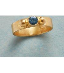 sunlit blue topaz ring