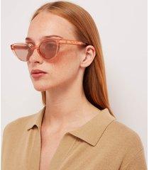 chloé women's cat eye frame acetate sunglasses - coral