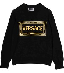 young versace embroidery sweater