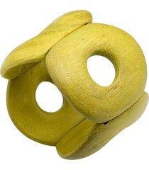 natori acacia wood bangle bracelet, women's