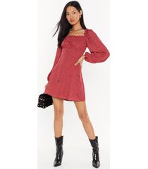 womens spot what you want square neck mini dress - maroon