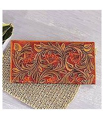leather wallet, 'mughal glory' (india)