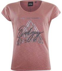 t-shirt edgy roze