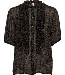 pzamaya blouse premium quality blouses short-sleeved svart pulz jeans