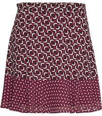 mod flrd com bo skirt kort kjol röd michael kors