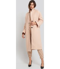na-kd big button long coat - beige