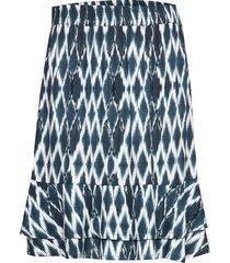 skirt knälång kjol blå signal
