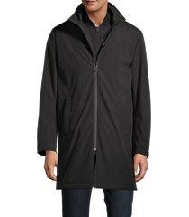 robert graham men's pilot stand-collar jacket - black - size xxl