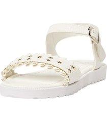 sandalia moda estrellas blanco  corona