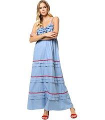 vestido celeste sophya scarlett