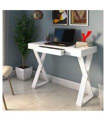 mesa escrivaninha artany veneza mdp 1 gaveta branca