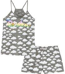 pigiama estivo con spalline sottili (grigio) - bpc bonprix collection