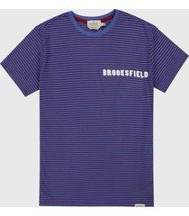 camiseta azul-rojo brooksfield