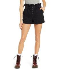 women's sts blue hayley high waist paperbag denim shorts