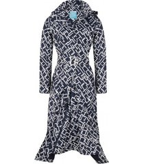 happyrainydays regenjas long raincoat mila midnight white