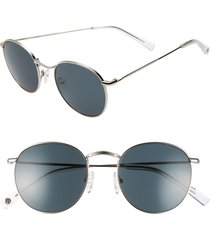 women's brightside charlie 50mm round sunglasses - silver/ grey