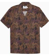 mens black palm revere shirt