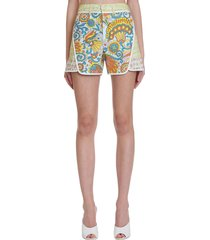lanvin shorts in multicolor cotton