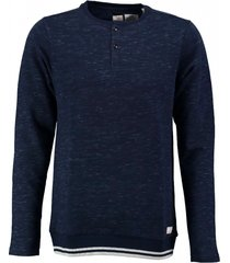 dstrezzed indigoblauwe granddad sweater