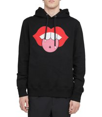 lanvin black mouth hoodie