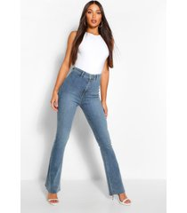 tall vintage look flared jeans, dark blue