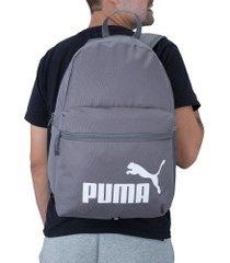 mochila puma phase - 22 litros - cinza escuro