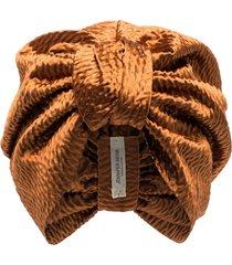 jennifer behr etta hair turban - orange