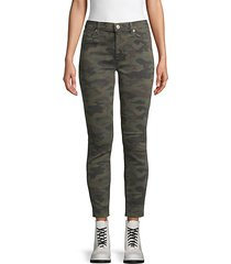 nico camouflage ankle skinny jeans