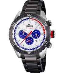 reloj chrono gris lotus