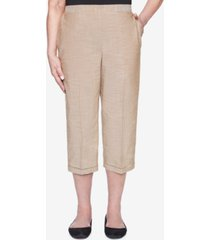 alfred dunner pull on back elastic textured capri