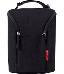 bolsa termica para mamadeira skiphop - double bottle bag - (on the go) - black