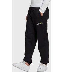 pantalón de buzo adidas originals adv sweatpants negro - calce regular