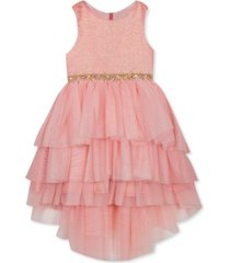 rare editions toddler girls tiered high-low dress